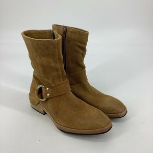Free People Harness Mid Boots Camel Tan Brown 6.5